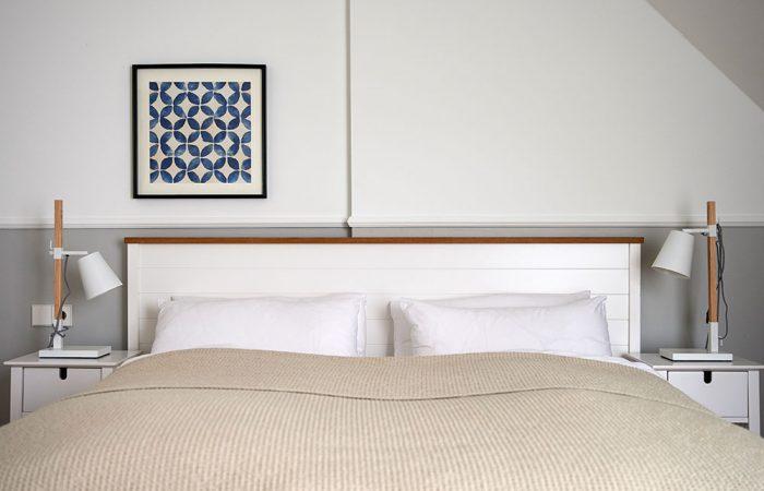 Ferienwohnung Norderney - Schlafzimmer Mondmuschel